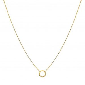 Minimalistica Ring Necklace Gold, ONE SIZE