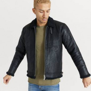 William Strouch Skinnjacka Shearling Jacket Black Svart