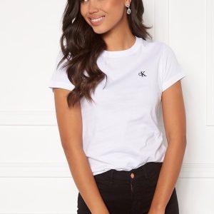 Calvin Klein Jeans CK Embroidery Slim Tee Bright White M