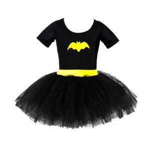 Klänning, batgirl 4-6 år