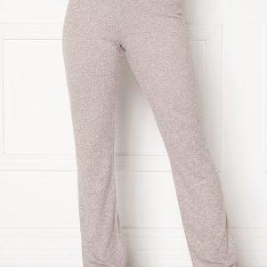 BUBBLEROOM Ilse rib trousers Light grey melange XL