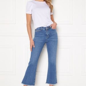 BUBBLEROOM Kyla kick flare stretch jeans Medium blue 34