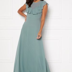 Moments New York Lea Frill Gown Green 42