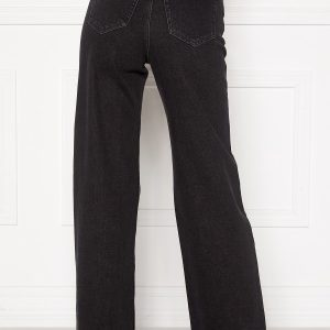 ONLY Juicy HW Black Wide Leg Jeans Black Denim 28/34