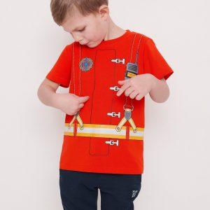 T-shirt med brandmanstryck