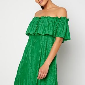 VILA Plisra Offshoulder Dress Jelly Bean M
